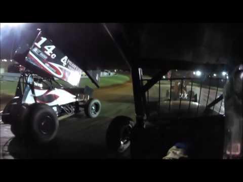 IMCA Racesaver 305 Winged Sprint Car Bloomington Speedway 7/14/17 Alfred Galedrige Jr. #19
