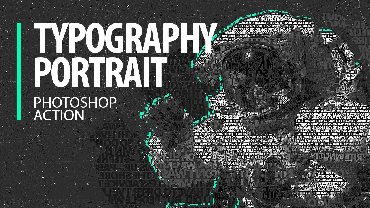 typography portraits photoshop action tutorial part 1 youtube