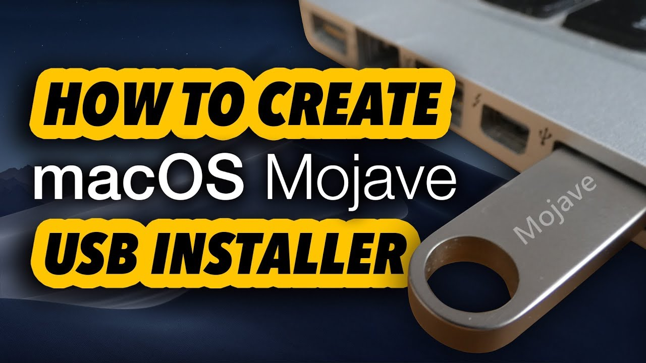 create bootable usb mojave