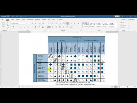 Project Management Linear Responsibility Matrix