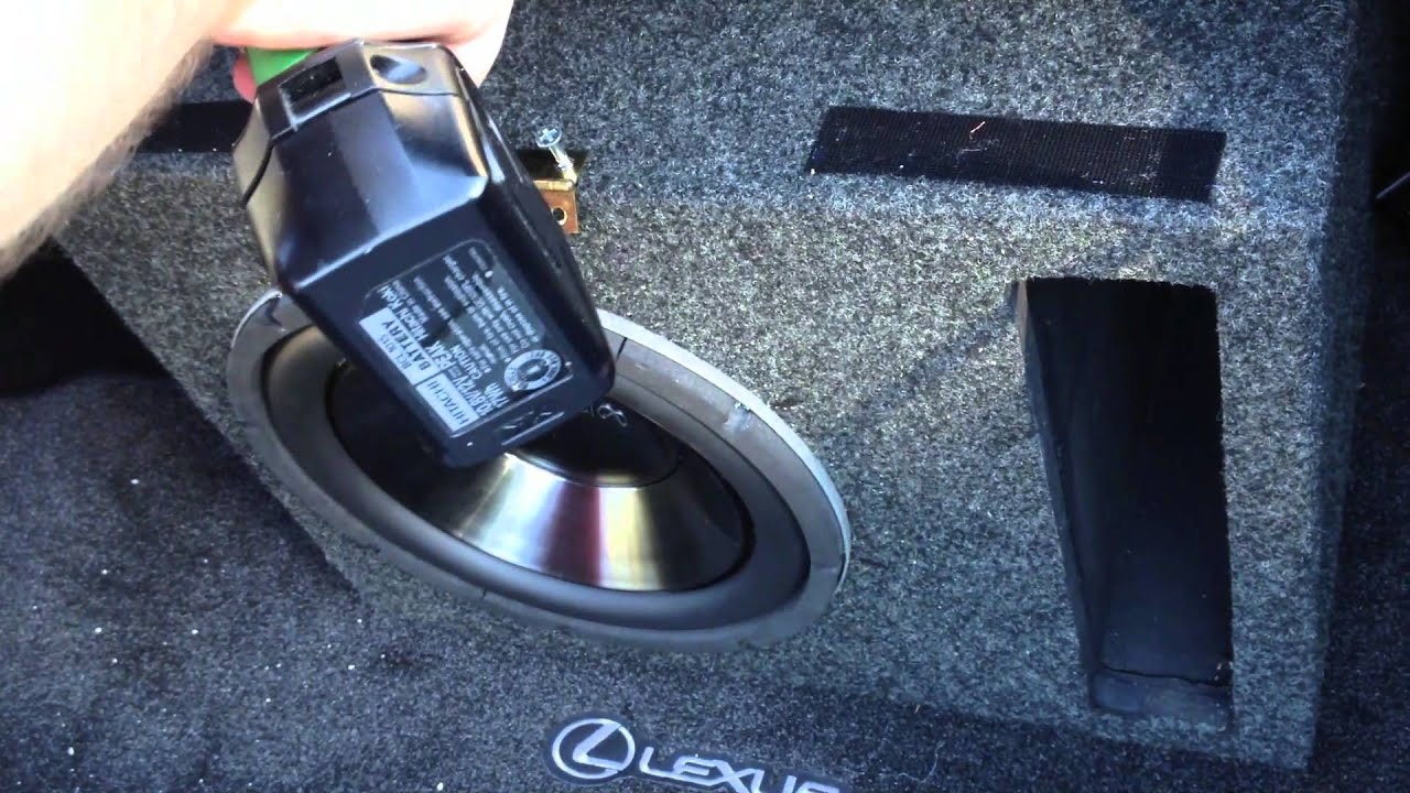 How To Secure Your Trunk Speaker Box Using A Rope And A