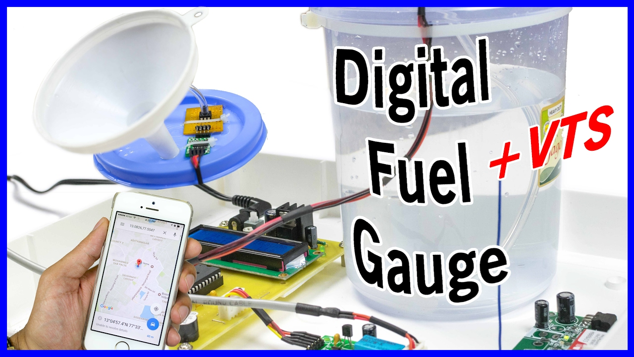 How To Make A Digital Fuel Gauge With Vts Youtube Numeric Water Level Indicator Liquid Sensor Circuit