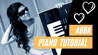 Lay all you love on me ABBA Piano Intro Tutorial