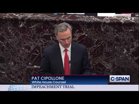 White House Counsel Pat Cipollone Closing Argument