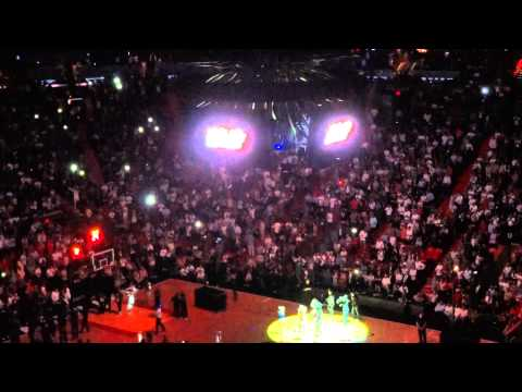 Miami Heat Starting Lineup Opening Night 2011-2012 with Intro HD Video