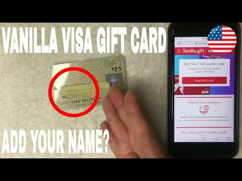 ✅  How To Add Name To Vanilla Visa Gift Debit Card Account 🔴