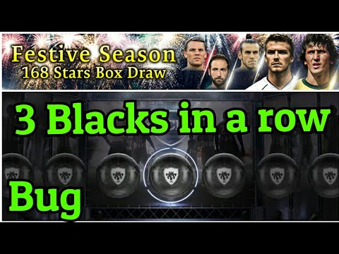 Festive season Box Draw - With 3 blacks & bug - Best pack opening (part 1) - Pes 2018