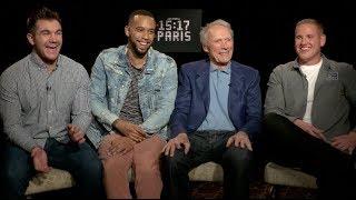 THE 15:17 TO PARIS interviews - Clint Eastwood, Alek Skarlatos, Spencer Stone, Anthony Sadler