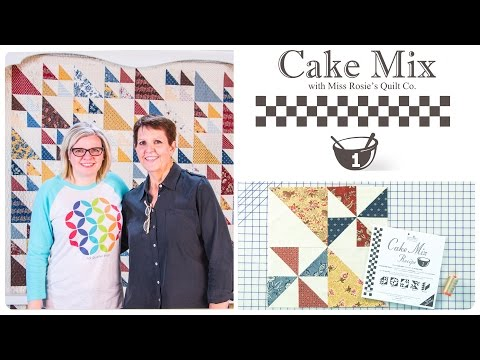 Cake Mix Recipe #1: Triangle Paper for Layer Cakes by Miss Rosie's Quilt Co. of Moda Fabrics: