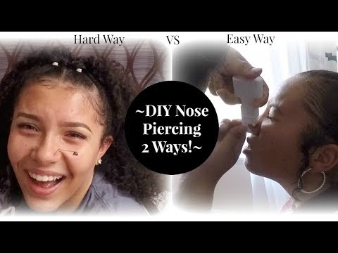 DIY Nose Piercing TWO Different Ways!