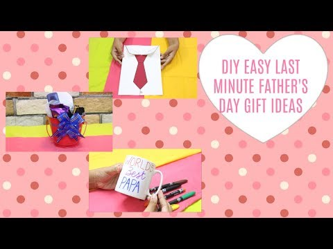 DIY EASY LAST MINUTE FATHER'S DAY GIFT IDEAS | D CRAFTY | 2017