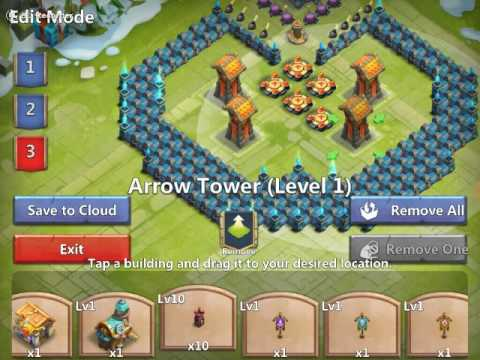 Easy To Copy Step By Step Castle Clash Level 17 Town Hall Base Build