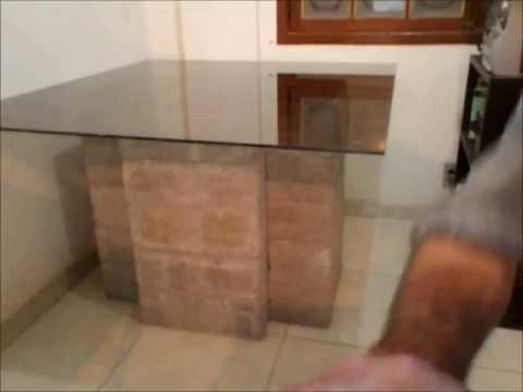 Montando a mesa de vidrocimento youtube - Mesas de centro clasicas ...