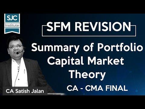 Summary of Portfolio | Capital Market Theory | SJC