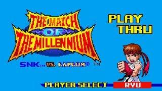 SNK vs. Capcom: Match of the Millennium - Ryu Playthrough