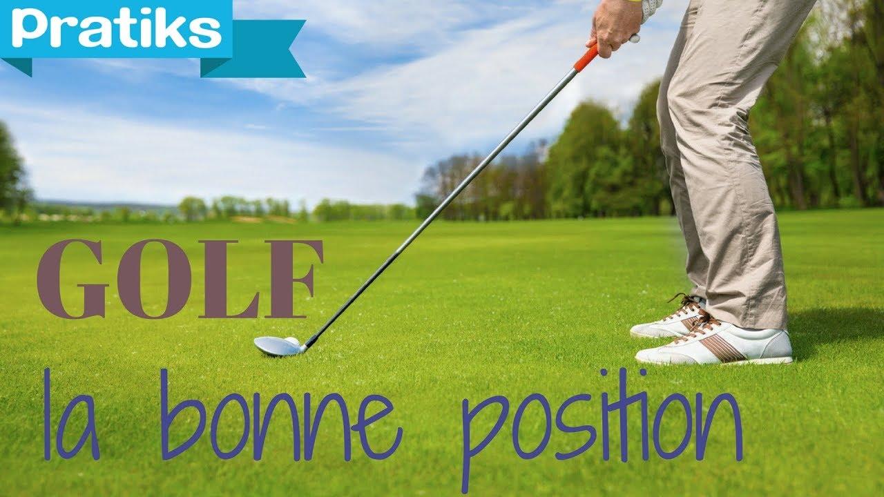 sport golf comment se positionner devant la balle de. Black Bedroom Furniture Sets. Home Design Ideas