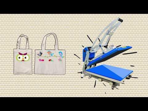 Sublimation shopping tote bag DIY tutorials
