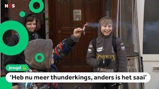 Kinderen in Den Haag over oud en nieuw zonder vreugdevuur