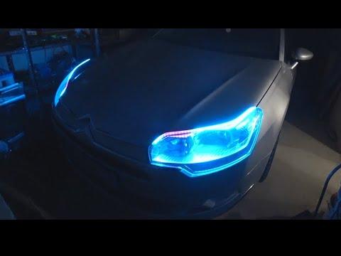 Подсветка LED в фары Citroen C5. Поколхозим немного?)