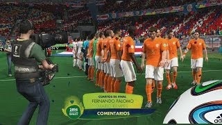 2014 Fifa World Cup - Cuartos de Final  Costa Rica Vs Holanda, Un resultado inesperado Gameplay xbox