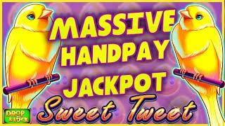 MASSIVE JACKPOT HANDPAY OΝ HIGH LIMIT Drop & Lock Sweet Tweet🔒$50 MAX BET Bonus Round Slot Machine 🔒