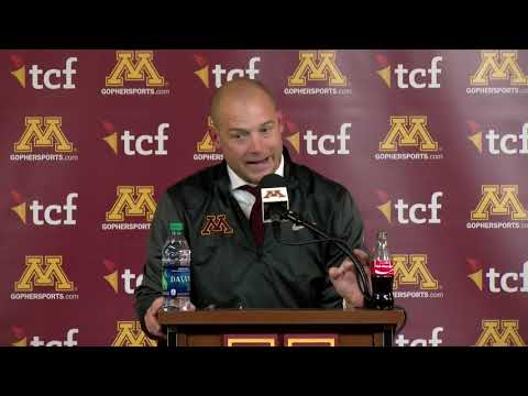 Gopher - VIDEO: Coach Fleck breaks down 41-10 win over Boilermakers