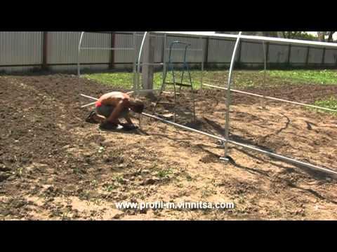видео: Теплица 4 на 10 метров - часть 1