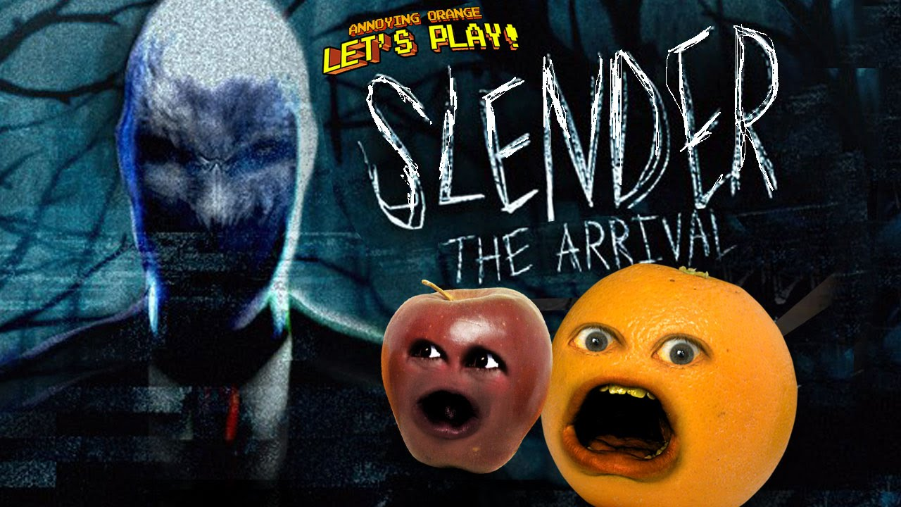annoying orange and midget apple play slender the