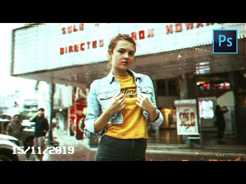 [ Photoshop Tutorial ] VHS Retro Photo Effect In Photoshop