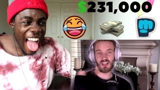 15 YEAR OLD CRIES OVER NOT GETTING $231,000 by PewDiePie REACTION!!!