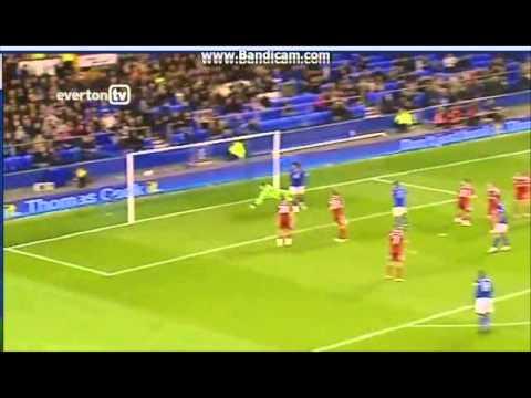 Everton Phil Neville 18 Tribute