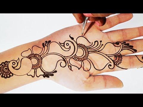 Unique Mehndi Design - New Peacock Mehndi Design 2019 - Valentine, तीज, त्यौहार लगाए  मेहँदी डिज़ाइन