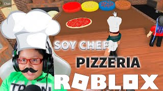 MY FIRST TIME AS Chef IN *THE PIZZERIA* OF ROBLOX