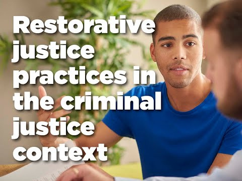 Restorative justice practices in the criminal justice context. Diversion and referral options