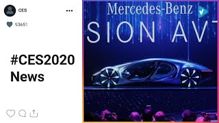 #CES2020 Hot Updates: Science fiction becomes reality with @mercedesbenz's new @avatar-inspired