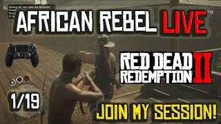 RDR2 With AFRICAN REBEL! RED DEAD REDEMPTION 2 Online  | Join Me On PS4