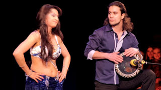 Belly dance drum solo Marina Oganyan and Artem Uzunov. Darbuka/Tabla solo