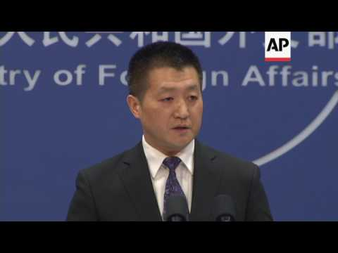 China on US officials meeting Taiwan president