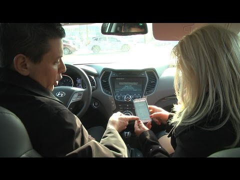 video test drive 2015 santa fe sport with criss and david hyundai of long island city youtube. Black Bedroom Furniture Sets. Home Design Ideas