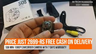 SQ8 Mini DV Camera 1080p Camcorder|Video+Voice+Images| URDU/HINDI Review