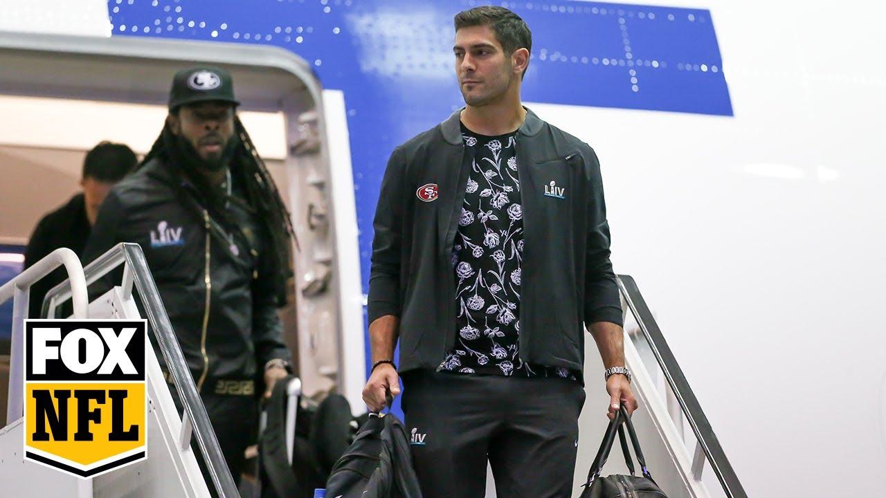 San Francisco 49ers arrive in Miami for Super Bowl LIV  NFL