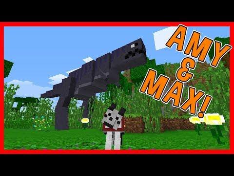 Amy & Max! Ep.17 DINOSAUR DIMENSION! | Minecraft | Amy Lee33