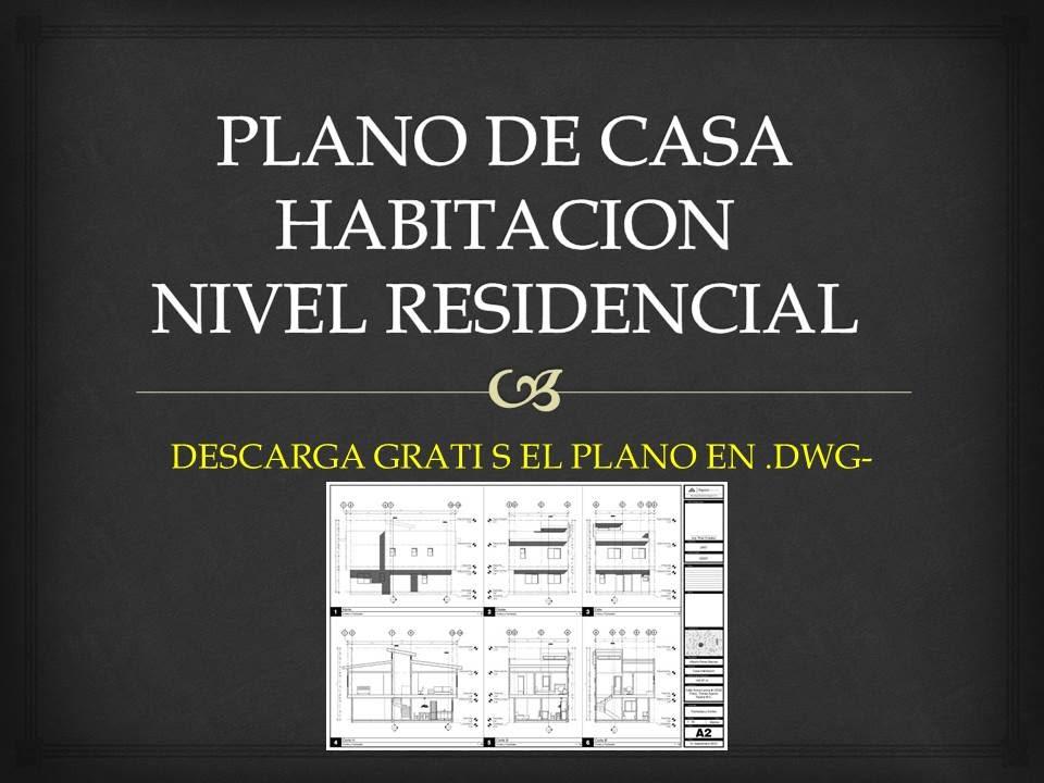Plano de casa habitacion youtube for Plano habitacion