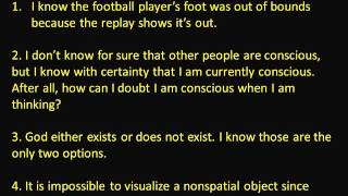 Epistemology 1: What counts as evidence? Must all Knowledge be scientific? Thumbnail