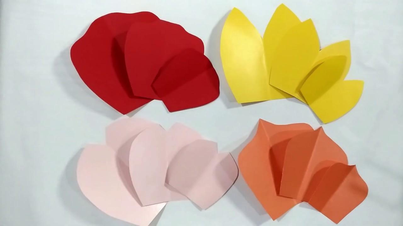 Cara Membuat Pola Paper Flower Backdrop Dekorasi Bunga Kertas Diy Paper Flower Templates Free Youtube