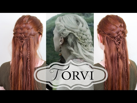Vikings Hair Tutorial - Torvi's Basketweave Style