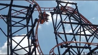 Steel Hawg HOLY CRAP Beyond Vertical Drop Roller Coaster POV Indiana Beach
