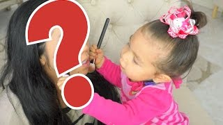 2 year old does my makeup itsmommyslife
