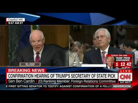 Ben Cardin previews Demorat attempts to tie Tillerson to Putin