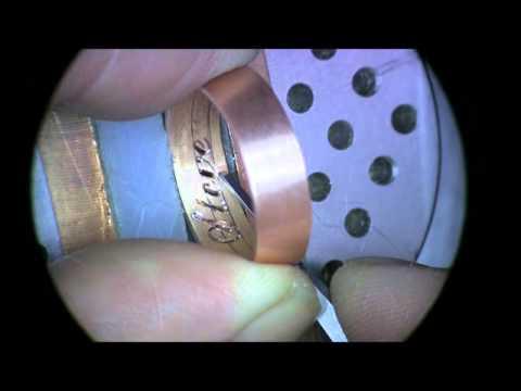 Hand Engraving Inside ring